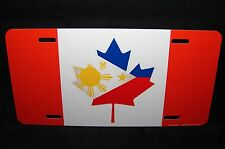 CANADA PHILIPPINES FLAG METAL CAR LICENSE PLATE CANADIAN PHILIPINO FLAG