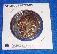 Thomas Jefferson 185th Anniversary Token