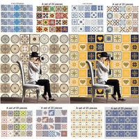 Self-Adhesive Tile Art Floor Wall DIY Vinyl Sticker Kitchen Bathroom Decal Decor