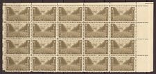 Scott #934 - US Postage Stamps Multiples Block of 20 - 1945 Army 3c - MNH OG