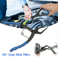 90° Long Nose Snap Ring Pliers Grip Duty Internal Circlip Plier Tips Removal /