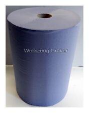 1 Putztuchrolle 2-lagig 1000 Blatt/Rolle Putzpapier Werkstattrolle blau 36x36cm