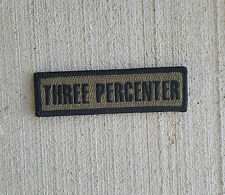 Morale Patch Special Ops SOG - 3% THREE PERCENTER - FOREST BLACK - Hook and Loop