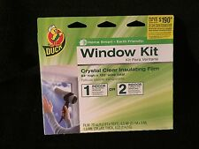 "Duck Brand Window Crystal Clear Insulating Film, 84-Inch High x 120"" Wide Total"
