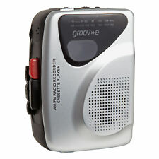 groov-e GVPS525SR Retro Series Personal Cassette Player and Recorder with Earphones - Silver
