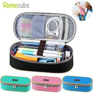 HOMECUBE Large Pencil Case 2 Zips Girls Makeup Box Kids Pen Bag - BACK TO SCHOOL
