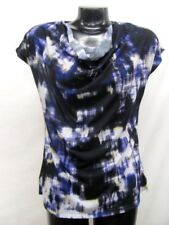KENNETH COLE LADIES INK BLOT KNIT CAP SLEEVE BLOUSE SIZE SMALL NWT