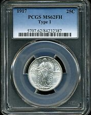 1917 25C Type 1 Standing Liberty Quarter Dollar MS62 FH PCGS 84232387