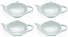 4 Stück Teebeuteablage, Ablage für Teebeutel, Teekanne, Porzellan