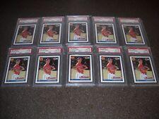 Lot of (10) 1991 Topps #333 Chipper Jones Braves RC Rookies PSA 10 GEM MINT QTY