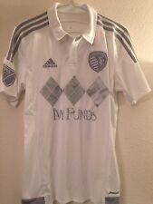 MLS KANSAS CITY SPORTING Away Soccer Football Shirt Jersey Men's S Authentic USA