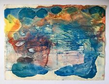 Salvador Benitez, Original Signed Abstract Colorful Painting '91 Puerto Rico Art