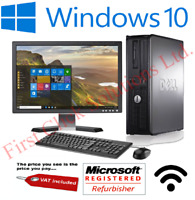 FULL DELL/HP DUAL CORE DESKTOP TOWER PC & TFT COMPUTER WITH WINDOWS 10 & 4GB