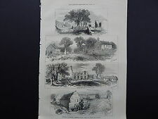 "Illustrated London News Full-Page S8050 Sept 1871 Goldsmith's ""Deserted Village"""
