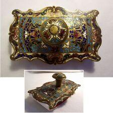 TAMPON BUVARD XIXème BRONZE cloisonné décor ART NOUVEAU belle forme et couleur