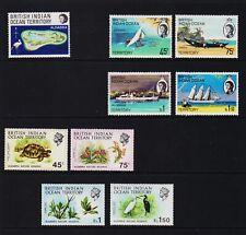 British Indian Ocean Territory - #34-42 Mint, NH, cat. $ 28.50