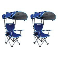 Kelsyus Kids Original Canopy Folding Backpack Lounge Chair (2 Pack) Blue | 80316
