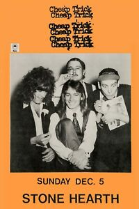 Classic Rock: Early Cheap Trick at Stone Hearth Concert Poster 12x18