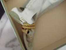 New Judith Ripka Diamonique & Onyx Ring 14k Gold Clad Size 7
