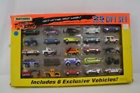 Matchbox 25-Pack Diecast Car Gift Set Get in the Fast Lane 1995 MIB Lambo Police