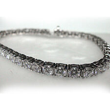 3 Ct Round Cut Tennis Bracelet In 14k White Gold Finish 4 Prong 7""