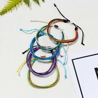 Vintage Buddhist Bohemian Weave Bracelet Bangles Knot Rope Budda Handmade Gift