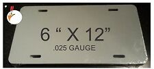 """120 Pieces ALUMINUM LICENSE PLATE SUBLIMATION BLANKS 6""""x12"""" / NEW BEST QUALITY"""