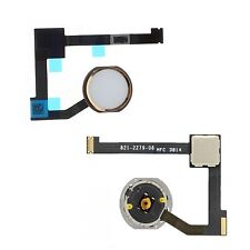 For iPad Air 2 Home Button With Flex Cable Replacement Menu Button White & Gold