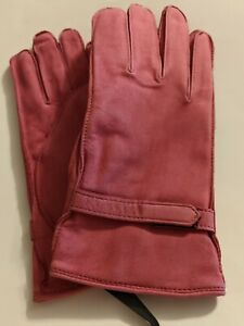 Fownes Valentine Suede LeatherGloves,Large, Fuchsia $55
