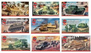 Airfix Classic Vintage D-Day Tanks WW2 Model Kit Panther Sherman Churchill 1:76