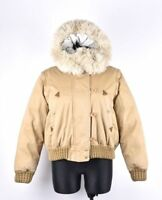 Timberland Women Down Hooded Sand Warm Jacket Bomber Size EUR 42 UK 12