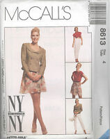 McCall's 8613  Misses' Lined Jacket, Top, Pants and Skirt   Sewing Pattern