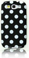 Black and White Polka Dot Designer Plastic Samsung Galaxy S3 SIII i9300 Case