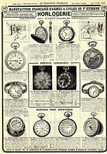 MF horlogerie montres pour sportsmen historique la publicité de 1914