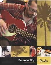 The 2011 Fender Sonoran SCE Acoustic Guitar Personal Day 8 x 11 ad print