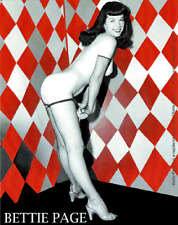 15732 Bettie Page Pinup Fishnet Red Diamonds 50s Rockabilly Betty Sticker Decal
