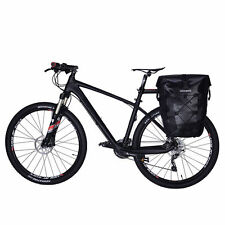 RockBros Completely Waterproof Pannier Bag Bicycle Rear Seat Carrier Bag Black