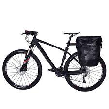 RockBros Completely Waterproof Pannier Bag Bicycle Rear Seat Black Carrier Bag
