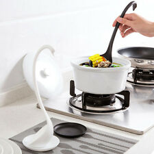 1* Black Multifunction Elegant Swan Style Ladle Spon With Tray Kitchen Spoon