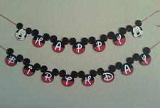 Mickey Mouse Happy Birthday Banner PERSONALIZED ,Free Shipping USA,