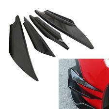 Front Bumper Spoiler Wing Lip Prevent Collision Splitter Universal Carbon Fiber