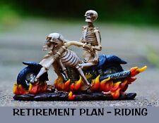 METAL REFRIGERATOR MAGNET Skeleton Motorcycle Retirement Plan Riding Saying
