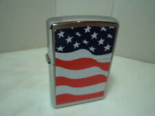 ZIPPO ACCENDINO LIGHTER AMERICAN FLAG VERY RARE NEW
