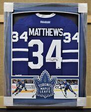 Auston Matthews Toronto Maple Leafs Framed Signed Jersey - Fanatics Authentic