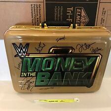 WWE Money in the Bank Commemorative Briefcase Signed Samoa Joe,JINDER MAHAL WWF
