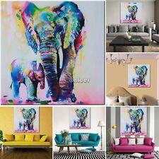 Multicolor Elefante Lona Impresión pared Art Pintura Imagen sin marco Decoración