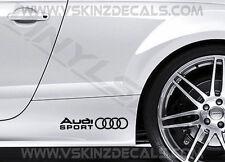 2x Audi Sport S ALT Premium Cast Gonna Decalcomanie Adesivi TT RS S-LINE A3 A4 Quattro