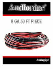 Audiopipe 50' 8 GA Speaker Wire Red Black Power Ground Stranded Cable Home Audio