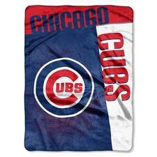 MLB Baseball Chicago Cubs Strike Royal Plush Soft Blanket/Throw/Raschel Twin