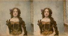 20 colorierte estéreo fotos hermosas genre, dancer teatro para 1870 lot 3